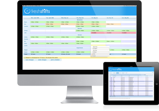 fresh shifts online employee shift scheduling software